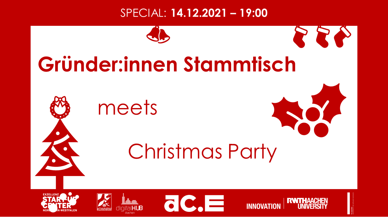 SPECIAL – Gründer:innen Stammtisch meets Christmas Party