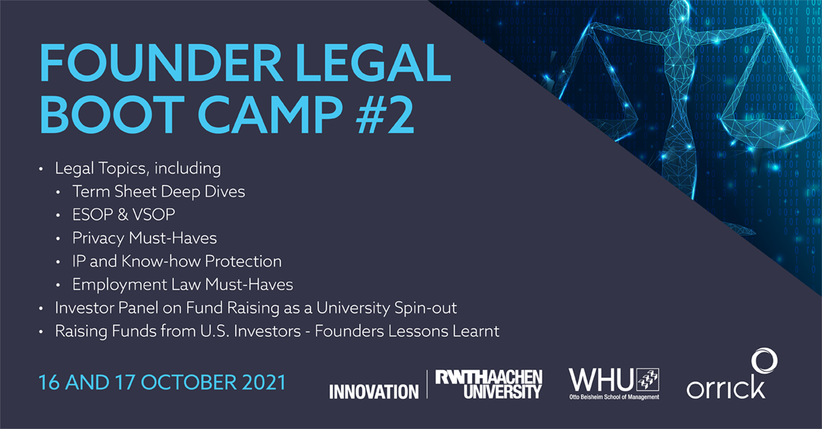 Legal Bootcamp #2 with Orrick
